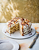 Banoffee fridge cake