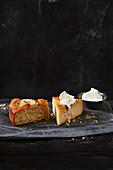 Apple and cinnamon custard cake