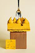 Mango and passion fruit mousse mini cake