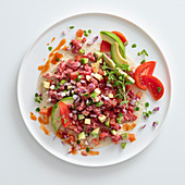 Mexican-style beef tartare