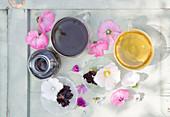 Malventinktur, Stockrosenblütentee und Eibischtee
