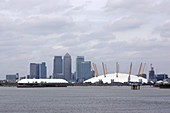 Canary Wharf and Greenwich Peninsula, London, UK