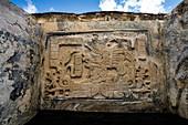 Mayan carved lintel, Bonampak, Mexico