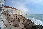 Coastal defences, Seaford, East Sussex, UK