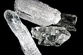 Methamphetamine drug crystals