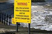 Shellfish warning sign