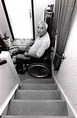 Wheelchair user unable to use stairs