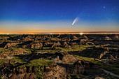 Comet NEOWISE over Horseshoe Canyon, Alberta, Canada