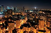 Paris, France, at night