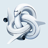 Airline industry in trouble, conceptual illustration
