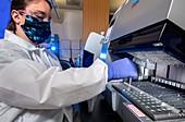 Preparing patient sample for Covid-19 testing