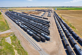 Railroad oil tankers