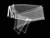 Folded sports leggings, X-ray