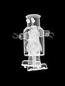Toy metal robot, X-ray
