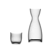 Glass carafe and tumbler, X-ray