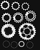 Bicycle gears, X-ray