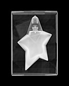 Boxed perfume bottle, X-ray