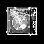 Vinyl record player, X-ray