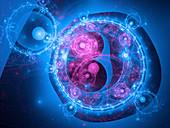 Quantum material, conceptual illustration