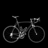 Carbon fibre road racing bike, X-ray