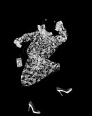 Dancing dress, shoes and MP3, X-ray