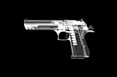 Desert eagle handgun, X-ray