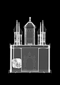 Synagogue toy music box, X-ray