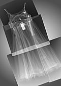 Child's dress, X-ray