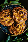 Braided sweet vanilla breads