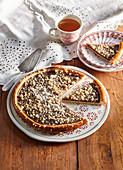 Pear cake with cinnamon crumble from Moravian Wallachia