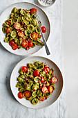 Broccoli pesto and pancetta pasta