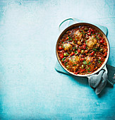 Chicken cacciatore one-pot with orzo