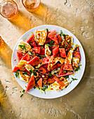Halloumi-Wassermelonen-Salat