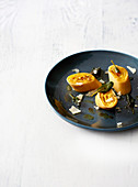 Butternut and ricotta rotolo with sage brown butter