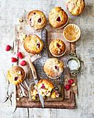 Raspberry and white chocolate cupcakes