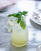 Lemonade with fresh basil