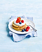 Coconut Pancakes with Berries and Yoghurt