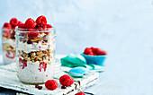 Detox diet: Bircher muesli with chia and raspberries
