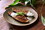 Ethiopian eggplant with yoghurt sauce and honey - Step by step