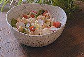 Garlic Chicken Salad and Quince Paste - Step by step