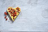 Balsamic roasted baby tomato and gorgonzola tart