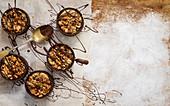 Chocolate hazelnut frangipane tart
