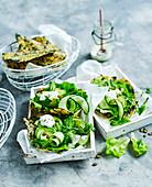 Avocado Salad Kale Wraps