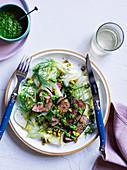 Lamm mit Fenchel, grünen Chilis, Salsa Verde und eingemachten Zitronen