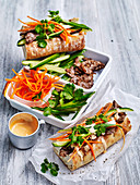 Lemon Grass Beef Banh Mi