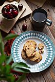 Coconut cherry cookies