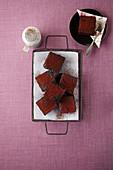 Brownies mit Kakaopulver