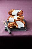 Sandwich toasties, stacked