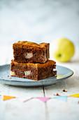 Apfel-Quitten-Brookie (Brownie mit Cookie-Kruste)
