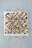 Triple Chocolate Brookie (brownie with cookie crust)